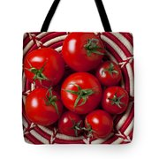 Basket Full Of Red Tomatoes  Tote Bag by Garry Gay