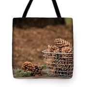 Basket Of Cones Tote Bag
