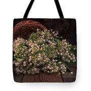 Basket Of Fresh Lily Of The Valley Flowers Tote Bag