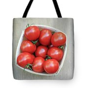 Basket Of Fresh Red Tomatoes Tote Bag