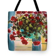 Basket Of Geraniums Tote Bag