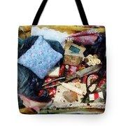 Basket Of Sewing Supplies Tote Bag