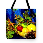 Basket With Fruit Tote Bag