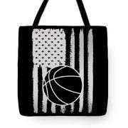 Basketball American Flag Usa Apparel Tote Bag