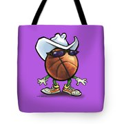Basketball Cowboy Tote Bag