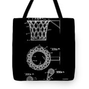 Basketball Net Patent 1951 In Black Tote Bag