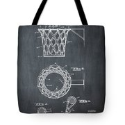 Basketball Net Patent 1951 In Chalk Tote Bag