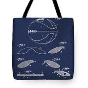 Basketball Patent 1916 Blue Tote Bag