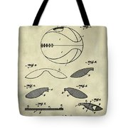Basketball Patent 1916 Faded Grunge Tote Bag