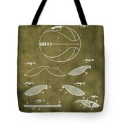 Basketball Patent 1916 Grunge Tote Bag