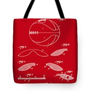 Basketball Patent 1916 Red Tote Bag