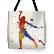 Basketball Player Paint Splatter Tote Bag