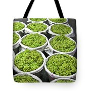 Baskets Of White Grapes Tote Bag