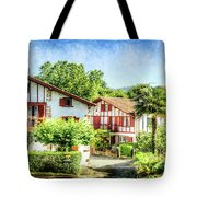 Basque Houses In Ainhoa 2- Vintage Version Tote Bag