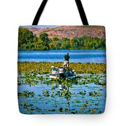 Bass Fishing Tote Bag
