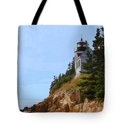 Bass Harbor Light House Tote Bag