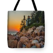 Bass Harbor Lighthouse Maine Tote Bag