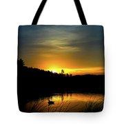 Bass Lake Sunrise Duck Tote Bag
