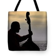 Bass Silhouette Tote Bag