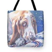 Basset Hound Christmas Tote Bag