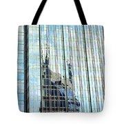Bat Tower Reflected Tote Bag