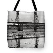 Bath Bridges In Winter Tote Bag