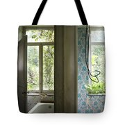 Bath Room Windows -urban Exploration Tote Bag