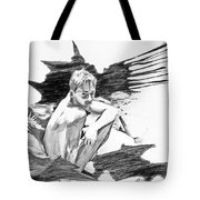 Bathed In White Light Tote Bag