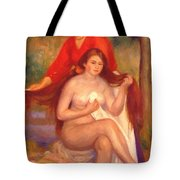 Bather And Maid The Toilet Tote Bag