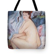 Bather  My Reproduction Of Renoirs Work Tote Bag