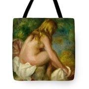 Bather Seated Nude Tote Bag
