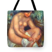 Bather Wiping A Wound 1909 Tote Bag