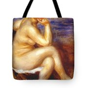 Bather With A Rock Tote Bag