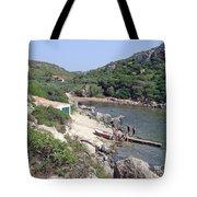 Bathers At Cales Coves Tote Bag