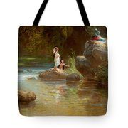 Bathers At The River. Evening In Orinoco? Tote Bag