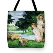 Bathers Male And Female Tote Bag