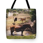 Bathing Horse Tote Bag
