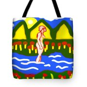 Bathing In A Mountain Stream Tote Bag