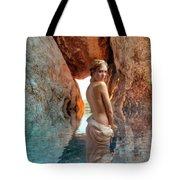 Bathing Maiden Tote Bag