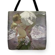 Bathing On The Beach Tote Bag