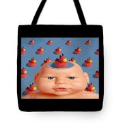 Bathing With Devil Duck Tote Bag