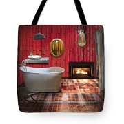 Bathroom Retro Style Tote Bag