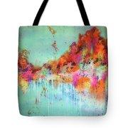 Batik Fall Silk Scarf Tote Bag