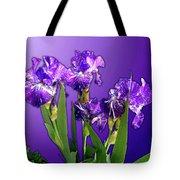 Batik Irises Tote Bag