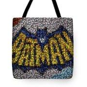 Batman Bottle Cap Mosaic Tote Bag