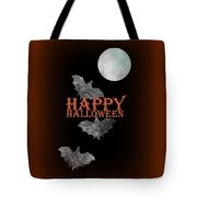 Bats And The Moonlight - Happy Halloween Tote Bag