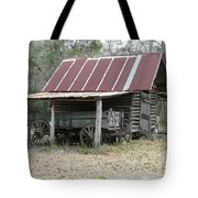 Battered Barn And Weathered Wagon Tote Bag