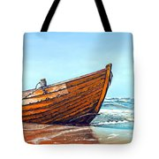 Battered By The Sea Tote Bag