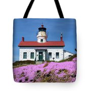 Battery Point Lighthouse In Crescent City Tote Bag