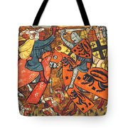 Battle Between Crusaders And Muslims Tote Bag